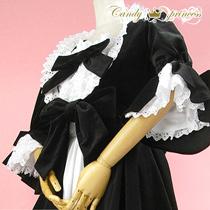 ゴシック調ベルベット素材コートドレス